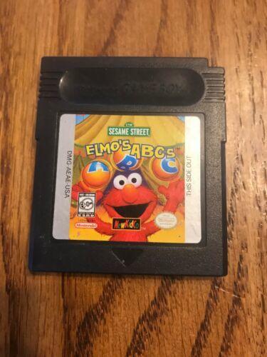 Sesame Street: Elmo's ABCs Nintendo Game Boy Color *Nice Kids Game*