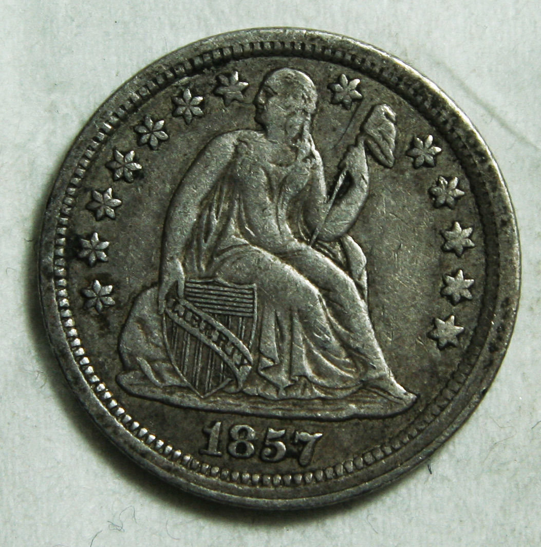 1857 Seated Dime Silver 10¢ Coin Lot# C 40