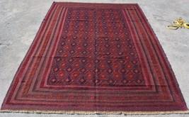 AS337, handmade afghan vintage kilim rug 6'8 x 8'11 mishvani area persia... - $576.34