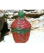 Vintage WOVEN WICKER Italian Wine Bottle Jug Old Demi John 169 BZ - $144.99