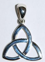 Silver Triquetra Pendant Wiccan Pagan New - $44.95
