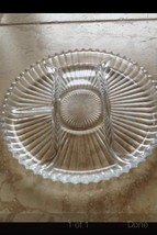 crystal glass serving dish - $89.99