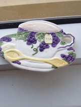 teacup & saucer ceramic wall hanging - $24.99