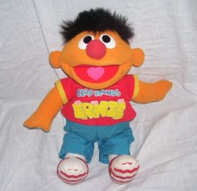 Sesame Street CLAP HANDS ERNIE Singing & Giggling Plush Doll 1998 Tyco - $17.96