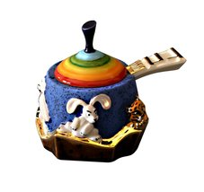 Rosh Hashanah Honey Dish 3 Pc. Ceramic Noah's Ark Hand Made - €42,09 EUR