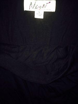 Macys Neon women Skirt wrap Mini black sz S fits M