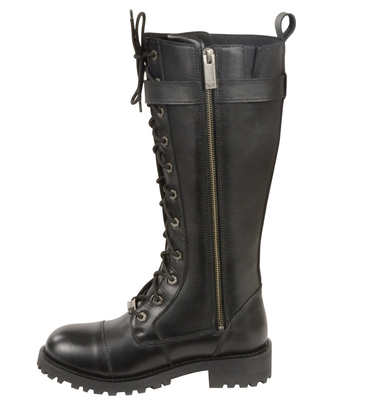 milwaukee leather s boots with lacing black