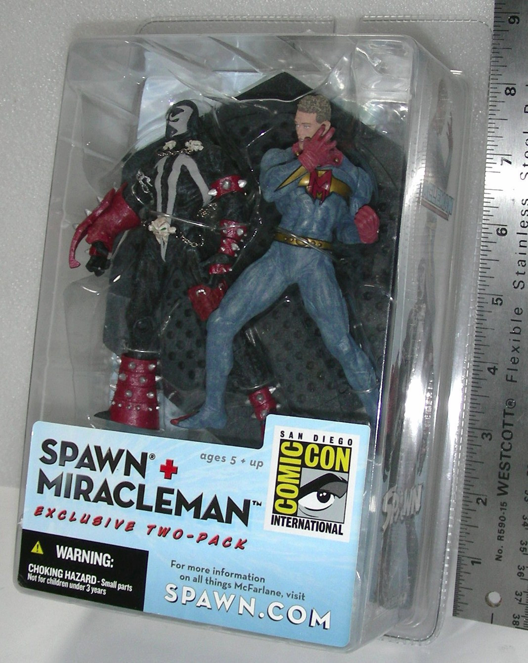 McFarlane Toys Spawn Miracleman Figure 2 Pack 2003 San Diego Comic Con Exclusive