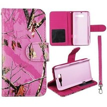 Pink Camo Mapel RT in Pink Leather for Motorola Droid RAZR M XT907  Case... - $11.39