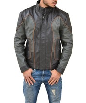 Lost In Space John Robinson Halloween Cosplay Costume Leather Jacket - $118.00