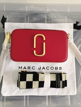 Marc Jacobs Snapshot Small Camera Bag Crossbody Bag Red Quilted Strap Auth - ₹14,175.11 INR