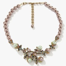 "NEW Heidi Daus ""Vine and Divine"" Simulated Pearl Crystal Drop Necklace - $158.91"