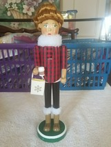 woman nutcracker 14 inches tall missing one item in hand - $59.28