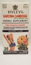 Hyleys 100% Natural Garcinia Cambogia Tea Acai Berry Flavor 25 Bags 1/23 DG2 - $5.99