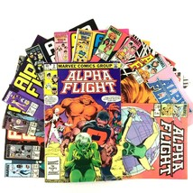 Alpha Flight Comic Book Lot 12 Issues Marvel Copper Age Sasquatch Vindicator - $19.75
