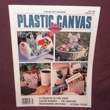 Plastic Canvas Corner Magazine May 1995  21 Designs Easter Bunnies Cat C... - $9.99