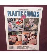 Plastic Canvas Corner Magazine May 1995  21 Designs Easter Bunnies Cat C... - $9.99