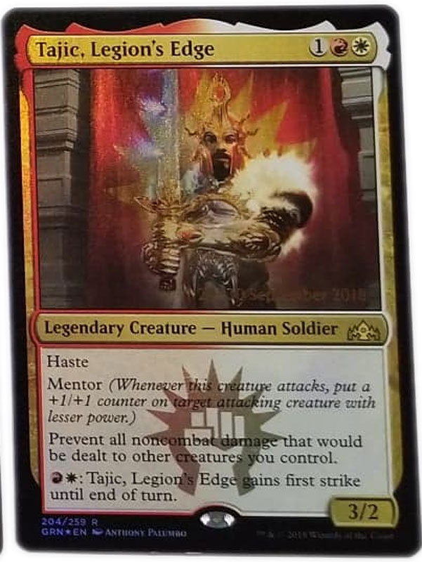 "Magic the Gathering MTG ""Tajic, Legion's Edge"" Rare Foil Promo Card x1 * NM"