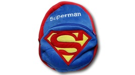 DC Comic Superman Furry Plush HandBag Backpack Bag School Bag Travel Bag - €12,41 EUR