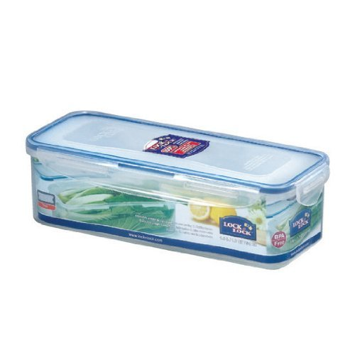 Lock&Lock 54-Fluid Ounce Rectangular Food Container with Tray, Tall, 6.6-Cup - $21.77