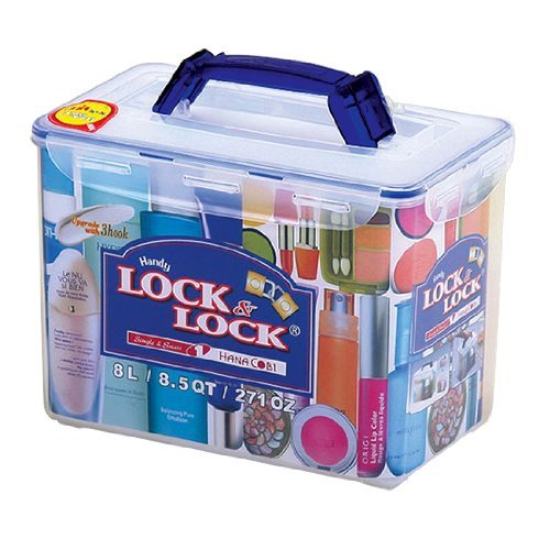 Lock & Lock 271-Ounce BPA Free Cosmetic Case Container, 33.3-Cup