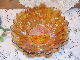 Carnival Glass Lily Pons Sunflower Bowl Indiana... - $5.87