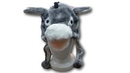 Cute Kawaii Anime Animal Cosplay Soft Gray & White Fluffy Plush Warm Don... - €6,14 EUR