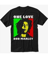 Bob marley one love rasta black t shirt screen printing thumbtall