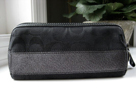 Coach EUC Zippered Cosmetic Makeup Bag BLACK Si... - $55.10