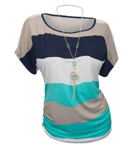 Trust Vendor Women's Crewneck Stripes Dolman Top Tee Plus Sizes T-shirts - $24.99