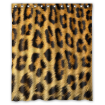 Leopard #07 Shower Curtain Waterproof Made From Polyester - $31.26 - $48.30