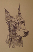 DOBERMAN PINSCHER DOG ART PRINT #93 Kline adds ... - $49.45