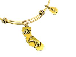 State of California Charm Bangle Bracelet (gold-plated-base) image 2