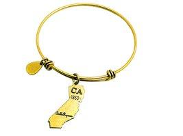 State of California Charm Bangle Bracelet (gold-plated-base) image 3