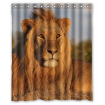 Lions #10 Shower Curtain Waterproof Made From Polyester - $31.26+