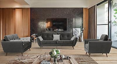 ESF 707 Modern Chic Fabric Living Room Set 3pcs