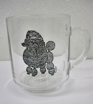 Poodle Camelot Specialties Mug Cup Dog Glass Artist  Luminarc Black Show... - $26.95