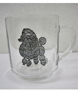 Poodle Camelot Specialties Mug Cup Dog Glass Artist  Luminarc Black Show... - $26.95