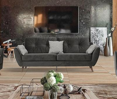 Modern Chic Contemporary 707 Fabric Sofa  by ESF