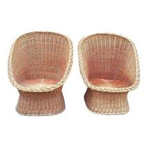 Mid century wicker pod chairs a pair thumb200