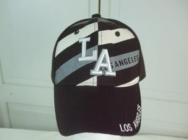 Los Angeles Golf Baseball Cap Hat LA Silver Capital Letters Brown White New - $19.26