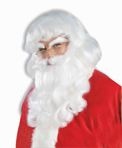 Santa Claus Wig Moustache And Beard Set Holiday Adult Costume Accessory - $34.88