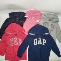 GAP Nike Girls Lot Of 5 Blue Red Pink Grey Logo Zipper Hoodie Hooded Swe... - $64.99