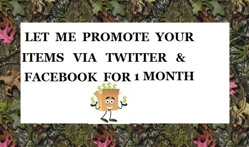 Booth Panel Rental & Promote Your Items 1 Month Twitter Facebook 60+ Tweets