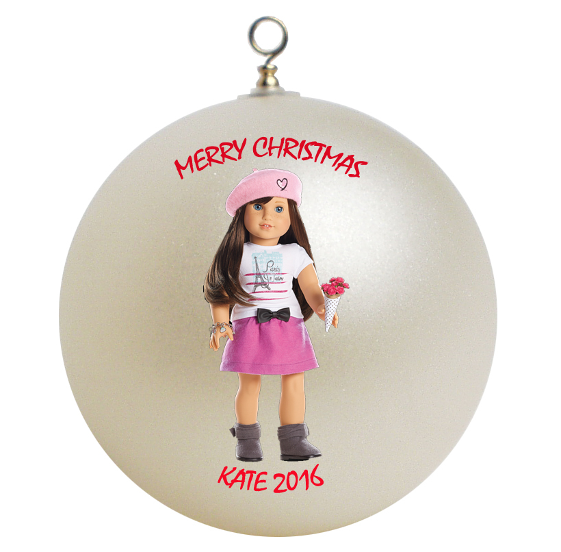Personalized american girl grace christmas ornament gift
