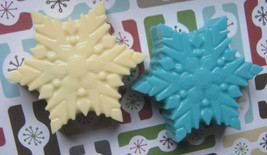 Snowflake chocolate covered oreo sandwich cookie party favor candy buffet treat - $24.00
