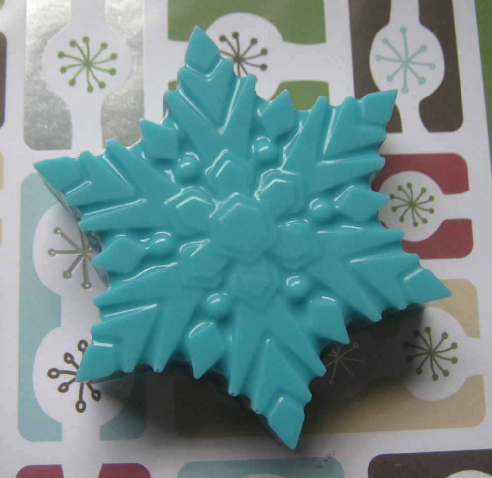 Snowflake chocolate covered oreo sandwich cookie party favor candy buffet treat image 2