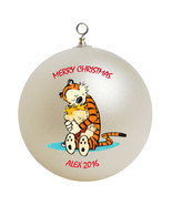 Personalized Calvin and Hobbes Christmas Ornament Gift - $24.95