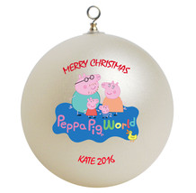 Personalized Peppa Pig Christmas Ornament Gift - $24.95
