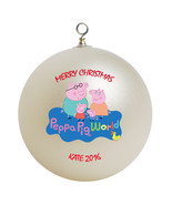 Personalized Peppa Pig Christmas Ornament Gift - $16.95